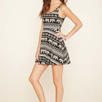 Paisley Elephant Skater Dress | Forever 21 - 2000205035