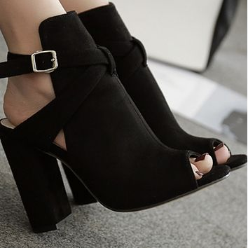 New hot sale fashion Roman thick heel all-match sandals shoes