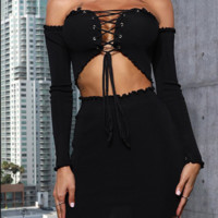 Hot style sexy word shoulder wrap girdle jacket skirt two-piece set