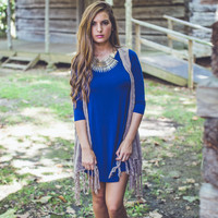 Jersey Tunic in Blue