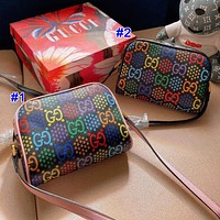 Gucci Hot Sale New Women's Color Print Letter Patchwork Mini Crossbody Bag