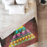 Nick Nelson Pyramid In Space Fleece Throw Blanket