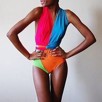 Bright Delight Swimsuit M by naKiMuli on Etsy