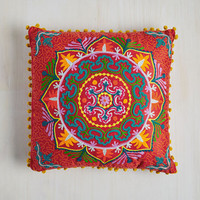 Boho Days Glow By Pillow in Scarlet by Karma Living from ModCloth