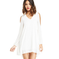 V-neck Off-shoulder Sleeves Princess Mini Dress