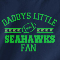 Navy Custom 1 Color Daddys Little Seattle Seahawks Fan 12th College Football Tee Tshirt T-Shirt