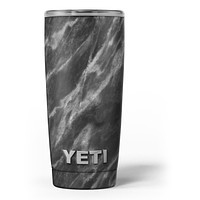 Black and Chalky White Marble - Skin Decal Vinyl Wrap Kit compatible with the Yeti Rambler Cooler Tumbler Cups