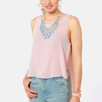 Happy Trails Light Taupe Top