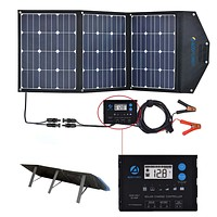 120 Watt Foldable Solar Panel Suitcase with Waterproof LCD Charge Controller