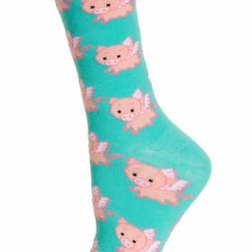 PIGS WITH WINGS ANKLE SOCKS