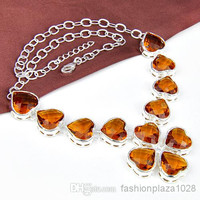 925 silver fashionable necklace brazilian gold jewelry for wedding N0519