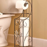 Jeweled Accent Bathroom Collection Toilet Tissue Holder