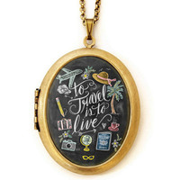 Travel is to Live - Locket