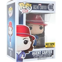 Funko Marvel Pop! Agent Carter (Gold Orb) Vinyl Bobble-Head Hot Topic Exclusive