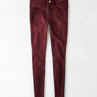 AEO Women's Denim X Hi-rise Jegging (Summer Burgundy)