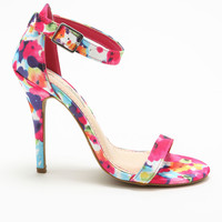TROPICAL ANKLE STRAP HIGH HEELS
