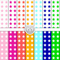 Digital Paper Goods Pack of Stars 8.5x11 for Scrapbooking and Crafts
