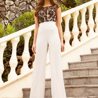 Lipsy Lace Top Jumpsuit