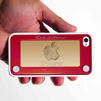 Etch a Sketch design personalized with your custom design iphone 4 4s case
