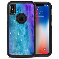 Blue 823 Absorbed Watercolor Texture - iPhone X OtterBox Case & Skin Kits