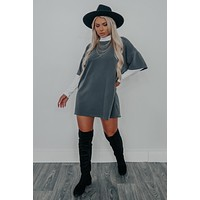 Breaking Point Dress: Charcoal