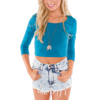 Lani Crop Top - Blue