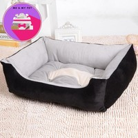Various Size Large Dog Lounger Bed Kennel Mat Soft Fiber Pet Dog Puppy Warm Soft Bed House Product For Dog And Cat