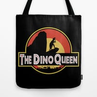 The Dino Queen Tote Bag by Page394