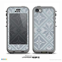 The Knitted Snowflake Fabric Pattern Skin for the iPhone 5c nüüd LifeProof Case