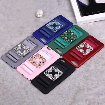 OKEECA 2017 New Phone Case for iPhone 6 6s 6plus 6splus 7 7plus with a Bow High Quality Luxury Fashion Free Shipping Hot Sale