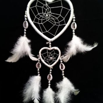 Heart-shaped Dream Catcher with Feathers Car or Wall Hanging -2hwh (With a Betterdecor Gift Bag)