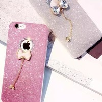 Stylish Cute Hot Sale Iphone 6/6s On Sale Hot Deal Silicone Rhinestone Butterfly Phone Case [6034153921]