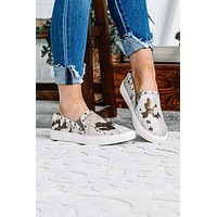 Pine Top Cow Print Canvas Sneakers