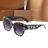 Gucci GG hot sale fashion personality men and women sunglasses beach glasses UV protection glasses driving polarized glasses