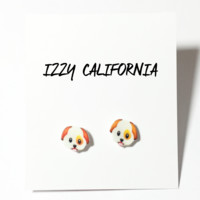 Puppy Emoji Earrings