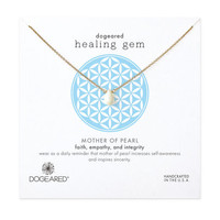 healing gem mother of pearl necklace, gold dipped - Dogeared