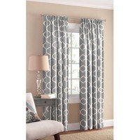Mainstays Canvas Iron Work Curtain Panel - Walmart.com