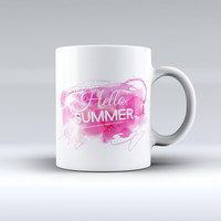 The Vivid Pink Hello Summer ink-Fuzed Ceramic Coffee Mug