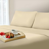 Lavish Home 1000 Thread Count Cotton Sateen Sheet Set - King - Ivory