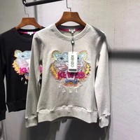 KENZO Fashion Tiger Embroidery Top Sweater Pullover