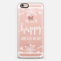 You Make Me Happy iPhone 6s case by sparkletters | Casetify