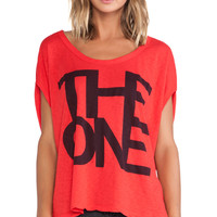 SUNDRY The One Butterfly Tee in Red