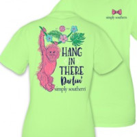 "Simply Southern ""Hang In There Darlin'"" Tee - Limeaide"