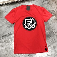 Fendi Autumn And Winter New Fashion Letter Women Men Leisure Top T-Shirt Red