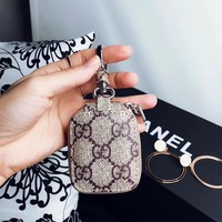 Brown GG Monogram Airpods Pouch