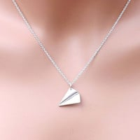One Direction necklace - paper airplane necklace - Directioner