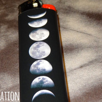Moon Phases Bic Lighter