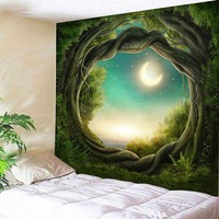 Hot Sale Tapestry 3D Printed Nature Tree Hole Indian Mandala Tapestry Wall Hanging Sandy Beach Throw Rug Blanket Camping Tent