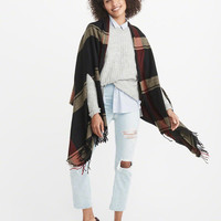 Womens Poncho Scarf | Womens Accessories | Abercrombie.com
