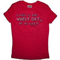 Napoleon Dynamite Worst Day of My Life Juniors T-Shirt
